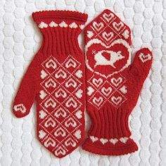 Once upon a time I shared my red mittens with a friend....