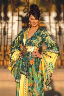 Caftan with great colours. www.asilahventures.com