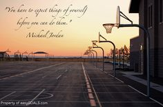"""""""You have to expect things of yourself before you can do them."""" Michael Jordan #easygoals 