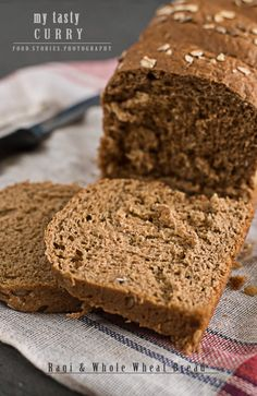 Ragi flour (a millet found in Indian stores) and whole wheat bread Wheat Bread Recipe, Bread Recipes, Baking Recipes, Bread Bun, Bread Rolls, Healthy Cake, Healthy Breads, Healthy Eating, Healthy Living Recipes