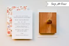 DIY Tutorial: Watercolor Floral Pattern Wedding Invitations | Oh So Beautiful Paper