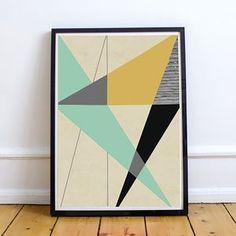 Bold Geometric Print - modern & abstract