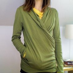 awesome nursing shirt for around my cold house! (this looks so cozy...)