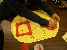 Chalk Talk: A Kindergarten Blog: More Shapes in Math Work Stations and many more ideas for all grade levels