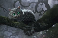 Алиса в стране чудес Чеширский Кот плакат 36x24 см