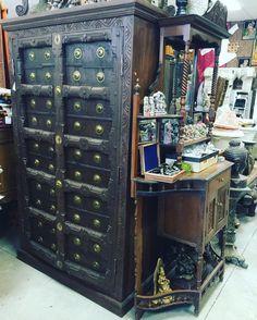 #armoire #cabinet #antiquefurniture #wardrobe http://www.houzz.com/photos/59144664/Consigned-Antique-Teak-Britsh-Colonial-Brass-Armoire-Cabinet-asian-armoires-and-wardrobes