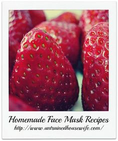 Skin care tips and ideas : Easy Homemade Face Mask Recipes