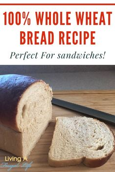 Taste this homemade basic whole wheat bread recipe that is like store bought bread. It makes a soft healthy no knead bread that is perfect from sandwiches. Frugal Recipes, Healthy Recipes On A Budget, Frugal Meals, Quick Cheap Meals, Inexpensive Meals, Appetizer Recipes, Dinner Recipes, Side Recipes, Basic Whole Wheat Bread Recipe