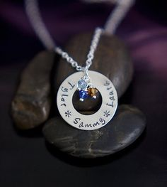 Hand-stamped Mother/Grandmother Necklace