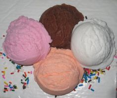 Vegan Novelty Ice Cream Soap Scoops by ajsweetsoap on Etsy, $6.75