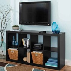 Modern Better Homes and Gardens 8-Cube Organizer, Solid Black