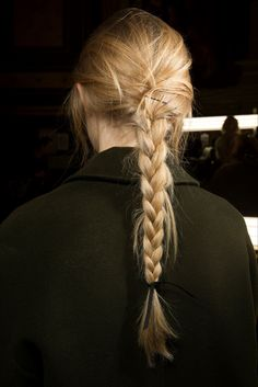 Simple braid - Lanvin F/W 2015