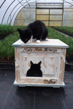 Katzenhaus, Katzenhütte ....das wird der neue Lieblingsplatz von Mietze ! zu finden im Shop von Annegret Lindhorst DaWanda.com