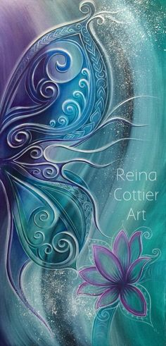 Reina Cottier Art ‏@ReinaCottierArt shared on Twitter Finished & sold #reinacottierart #art #painting #butterfly #wing #lotus #abstract #koru pic.twitter.com/Wff7P9Ex3V★❤★