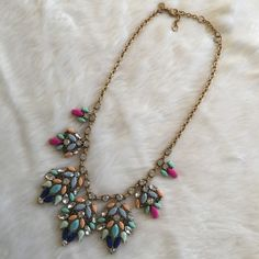 J. Crew Starburst Statement Necklace Worn maybe twice for work. Authentic. Can't remember the style name for this one. J. Crew Jewelry Necklaces
