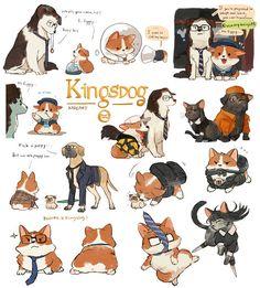 wherever you go, there you are — kadeart: Kingsdog : The Fluffy Service