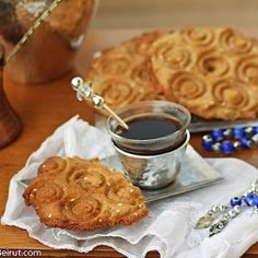 A chewy/crispy cookie redolent of anise, cinnamon, nutmeg, ginger and turmeric is made traditionally in Lebanon