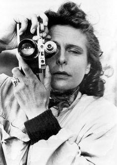 Leni Riefenstahl (1939) self portrait with Leica camera