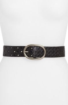 Fossil Perforated Embossed Leather Belt available at #Nordstrom