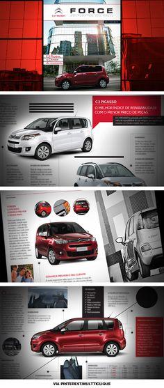 Force C3 Picasso  Material feito para a área de Formação Comercial da Citroën.