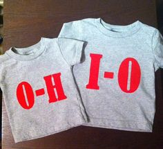 Ohio State Buckeyes coordinating shirts by TheLilypadCollection, $26.00