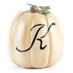White Pumpkin Monogram K
