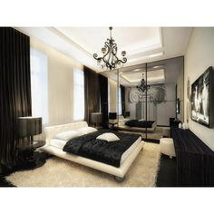 elegant vintage apartment white brown bedroom ❤ liked on Polyvore
