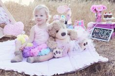 2nd Birthday Photo Shoot.. I LOVE THIS!! @Loren Morris how is this for A?