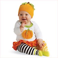 I just want to squeeze the cheeks on this little pumpkin in her #PumpkinSkirtOutfit