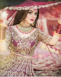 Hira Salman also known as Hira Mani, is a Pakistani television actress, host and former VJ. Pakistani Bridal Makeup, Bridal Mehndi Dresses, Pakistani Wedding Outfits, Bridal Dress Design, Indian Bridal Fashion, Bridal Outfits, Bridal Lehenga, Pakistani Dresses, Indian Dresses