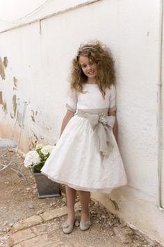 vestido corto comunion