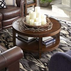 Round Cocktail Table - For Family room