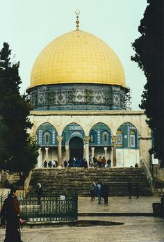 Dome of the Rock, Jerusalem, Palestine From the collection: IslamicArtDB» Masjid Qubbat As-Sakhrah (Dome of the Rock Mosque) in Jerusalem, Palestine (49 items)