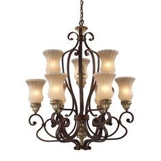 @Overstock.com - Elk Lighting Caspian Autumn Bronze 6 3 Light Chandelier - Upgrade the look and feel of your home with this beautiful light from Elk Lighting. This attractive fixture features a stylish autumn bronze finish and a cream reed glass shade.  http://www.overstock.com/Home-Garden/Elk-Lighting-Caspian-Autumn-Bronze-6-3-Light-Chandelier/7263787/product.html?CID=214117 $184.99