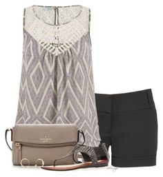 Polyvore, fashion, style, maurices, Avenue, Kate Spade and Wouters & Hendrix Gold. Summer outfits. Summer. Shorts. Fashion for women over 40.