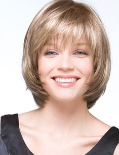 SHANNON by Rene of Paris on Sale Buy Online, Wigs Ship Fast Shannon by Rene of Paris is a hi-fashion collar-length page-bob with an elevated perimeter and layered chipped Layered Bob Hairstyles, Short Hairstyles For Women, Straight Hairstyles, Natural Hairstyles, Boy Hairstyles, Summer Hairstyles, Latest Hairstyles, Hairdos, Pretty Hairstyles