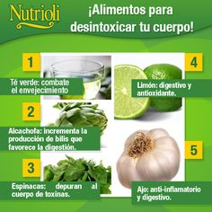 ¡Alimentos para desintoxicar tu cuerpo!