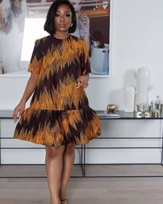 Classy Short Ankara Gown Styles for Beautiful Ladies - Short African Dresses, Latest African Fashion Dresses, African Print Dresses, African Print Fashion, Ankara Fashion, Africa Fashion, African Prints, African Fabric, Short Dresses