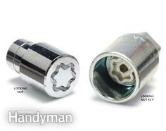 Install a locking nut in place of a lug nut to make wheels more difficult to steal.