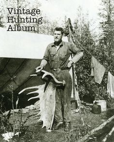 Canada moose 1914, Murray River, British Columbia http://www.historyofhunting.com/?page_id=297 #historyofhunting
