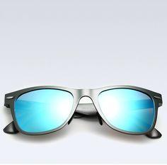 25cf4ab2ce1 Blue Aluminum Mens Polarized Mirror Sun Glasses Male Driving Fishing  Outdoor Eyewears Cool Sunglasses