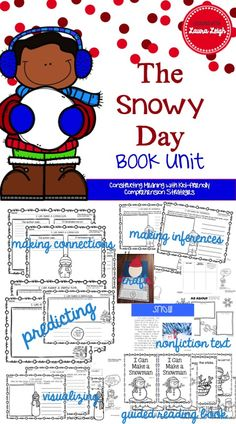 The Snowy Day by Ezra Jack Keats, a Caldecott Medal Winner, is a classic children's book. Wake up with Peter to a snow-covered day where adventure awaits. This book unit focuses on teaching even the youngest students to construct meaning with kid-friendly comprehension strategies.