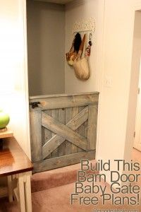 DIY Barn Door Baby Or Dog Gate I always wanted a Dutch door like Captain Kangaroo's.