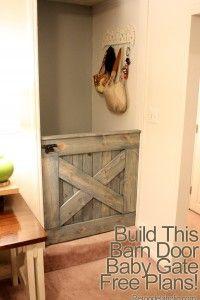 DIY Barn Door Baby Or Dog Gate I always wanted a Dutch door like Captain Kangaroo's.