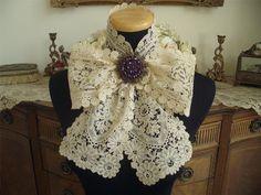 Superb LG Handmade Antique Vtg Belgian Brussels Duchesse Lace Scarf Lappet   eBay