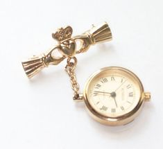 Jewelry & Watches Spirited Vintage Swank Gold Pocket Watch Chain Double Link Beautiful In Colour