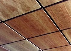 Ceiling panels for the lobby? Maybe we could find a stain to pull out in the marble accent. New World Wood Ceiling Tile and Wall Panels Image Gallery – Solid Wood and Real Wood Veneer Ceiling and Wall Systems – Architectural Surfaces, Inc Drop Ceiling Panels, Drop Ceiling Tiles, Dropped Ceiling, Plywood Ceiling, Wooden Ceilings, Metal Ceiling, Ceiling Cladding, False Ceiling Design, Ceiling Wood Design