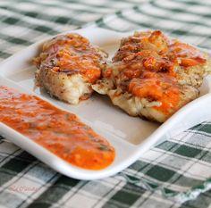 Pollo alla diavola con salsa diable
