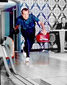 photos of old bowling alleys | ... in the Old Executive Office Building Bowling Alley in 1970 ( NARA