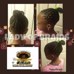 Natural hair Kids braids black Hairstyle with extensions